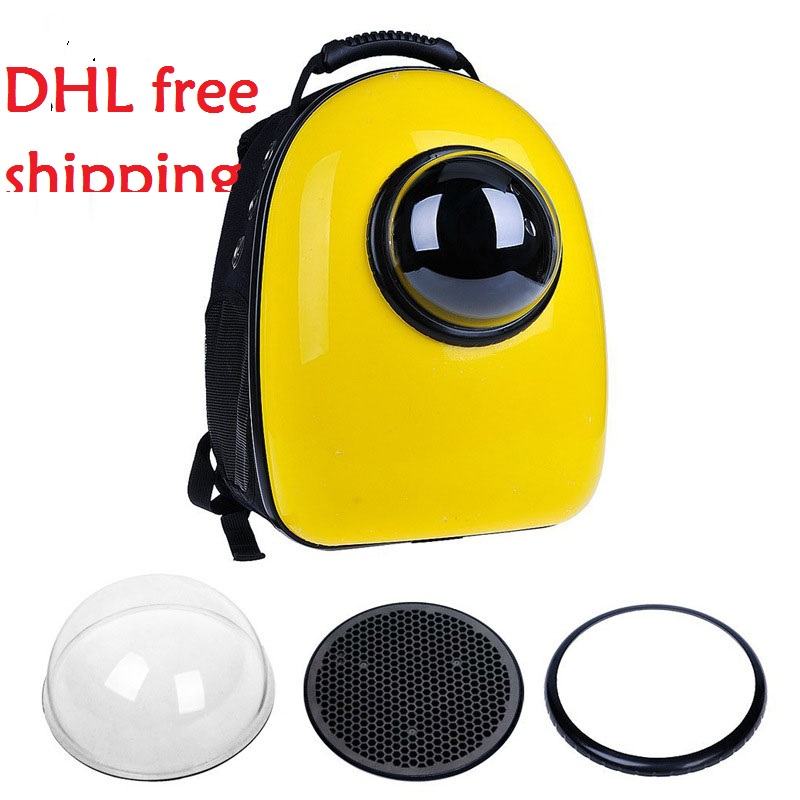 2016 New Space Capsule Shaped Pet Carrier Breathable Pet Backpack PC Pet Dog Outside TraveBl Bag Portable Bag Cat Bags(China (Mainland))