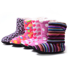 New 2016 Winter Warm Indoor Slippers Women'S At Home Slippers Christmas Deer Slippers Women Shoes Home Cotton Slippers Soft(China (Mainland))