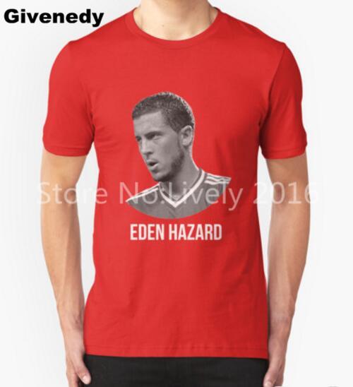 2016 New Brand Eden HazardBelgium footballer England football Retro Printed short sleeve Casual Tops Punk Boy's Funny cotton Tee(China (Mainland))