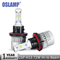 Oslamp 72W pair H13 Car LED Headlight Bulb Hi Lo Beam CREE CSP Chips h13 Auto