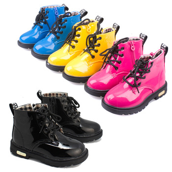 Children's shoes autumn/winter 2015 children Korean version of Martin boots leather waterproof boots for men and women boots