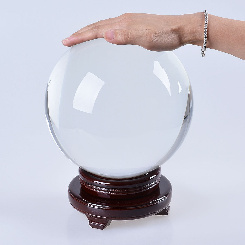 Ship From USA LS034B 200mm 8 inch Large Crystal Ball Gazing Sphere Show Stone Scrying Pool Venue Decorations(China (Mainland))