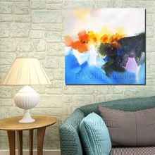 Buy High Free Hand-painted Abstract Oil Painting Canvas Pictures Living Room Decoration Framed Picture for $12.00 in AliExpress store