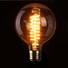 Hot Sale High Quality E27 G125 40W 60W 110/220V Filament Light Bulb Vintage Retro Antique Style Lamp(China (Mainland))