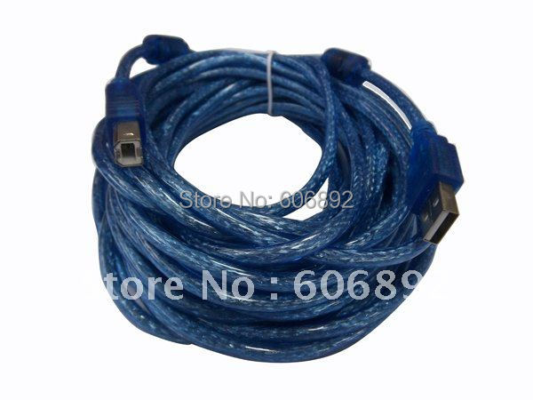 USB 2.0 A-B PRINTER SCANNER CABLE 10M/30ft with two magnetic ring, hot sale free shipping