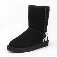 Australia 100% piel de oveja natural, una botas de nieve botas de mujer de invierno cálido zapatos de la altura de la pantorrilla/QA/Envío Libre(China (Mainland))
