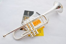 Silver Plated Vincent Bach C Tone Professional LT197GS Major Trumpet  HARD LEATHER case Musical Instruments Trompete Tromba (China (Mainland))