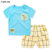 Buy Unini-yun Brand Children Clothing Sets Costume Toddler Girls Boys Casual Clothing Sets Spring Kids Short Sleeve Clothes Boys for $4.32 in AliExpress store