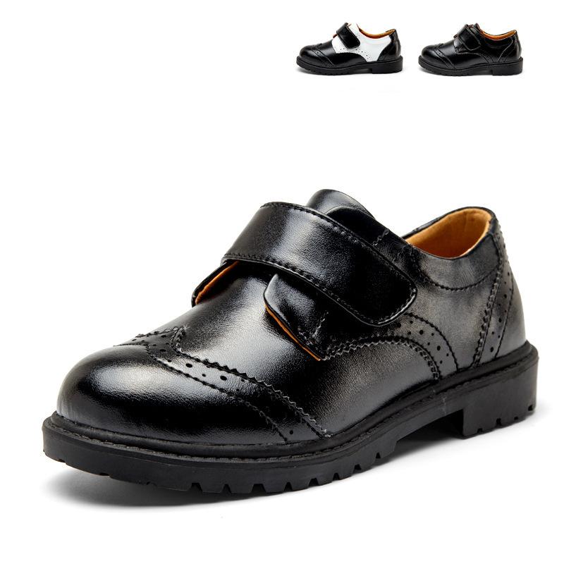Leather Shoes Kids Boys Brand Fashion Children Kd Infant Black Moccasins Prince Wedding Party Dress Old School Flat Schoenen(China (Mainland))