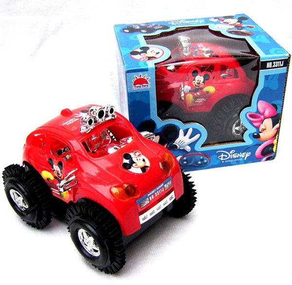 T2129 baby toys electric cars rapid dump trucks kids toy mickey dumpers puzzle toy car Children vehicle toy gifts for boy(China (Mainland))