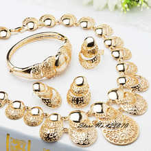 Dubai Wedding Fine Jewelry African Costume Jewelry Set 18k Gold Plated Bridal Jewelry Sets Party Earing And Necklace Sets J078(China (Mainland))