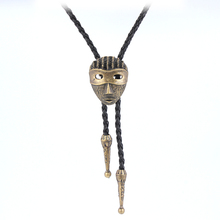 2016 Cupper PU leather Egyptian Pharaoh mask pendant necklaces women,vintage classic long skeleton male sweater men necklace hot