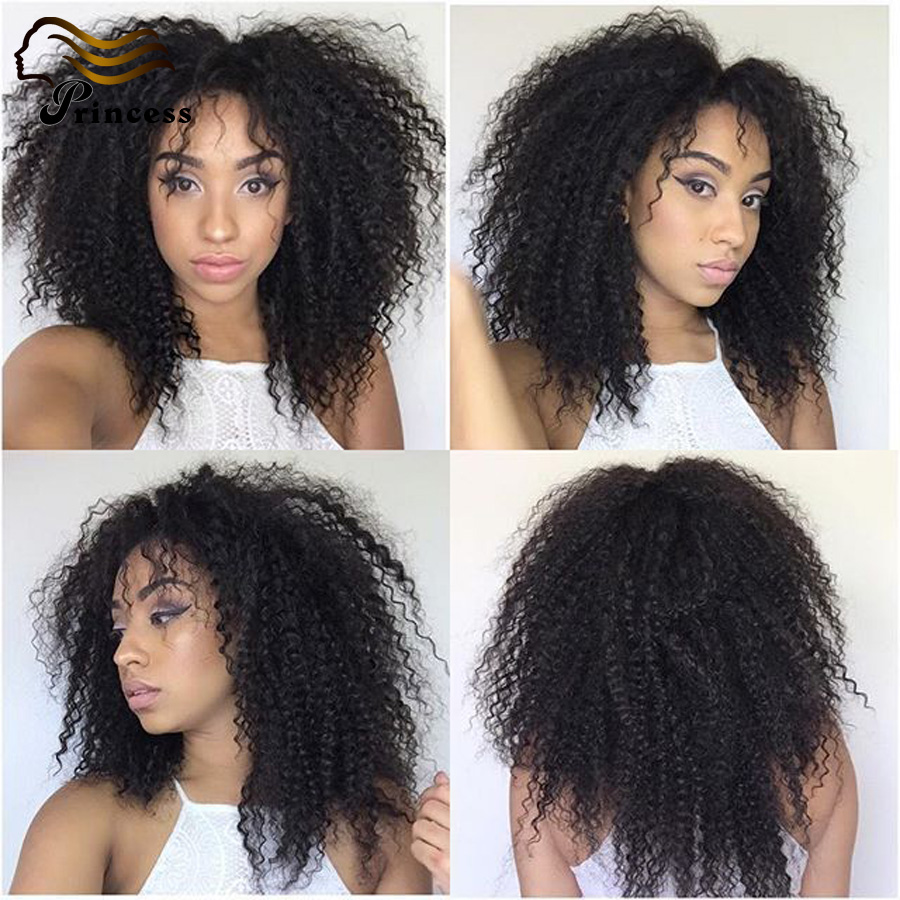 Kinky Curly Full Lace Human Hair Wigs 7A Malaysian Glueless Full Lace Wig For Black Woman Curly Lace Front Wig With Baby Hair<br><br>Aliexpress