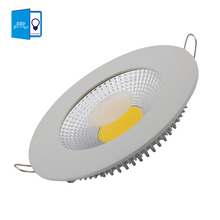 [DBF] dimmable 5W 10W 15W LED COB Slim Round Ceiling Recessed Grid Downlight + Integrated  high efficiency LED Driver(China (Mainland))