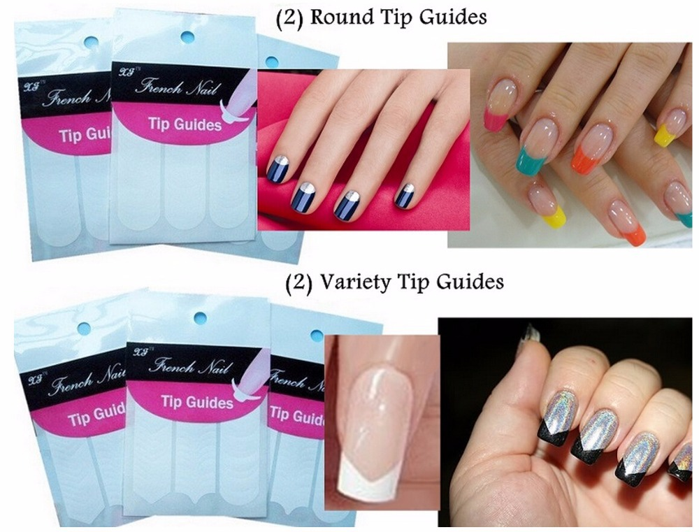 How to make a stencil for french manicure