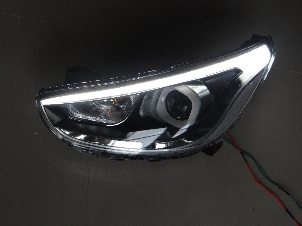 Car Styling For Hyundai Solaris headlights 2011-2013 Accent led headlight Verna turn signal drl H7 hid Bi-Xenon Lens low beam