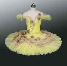 2014 NEW!!!Adult Ballet Yellow Tutu Skirt ,Women Professional Tutu Dresses ,Classical Ballet Tutu For Girls,Tutu Ballet AT0083