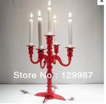 2013 hot selling acrylic weeding decoration candle holder ,many colors can be choosen(China (Mainland))