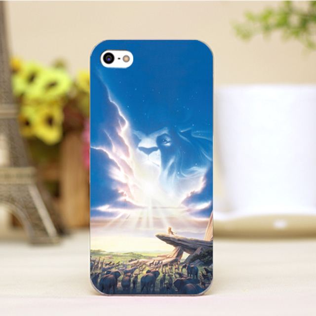 pz0004-40-4 For The Lion King Design Customized cellphone transparent cover cases for iphone 4 5 5c 5s 6 6plus Hard Shell
