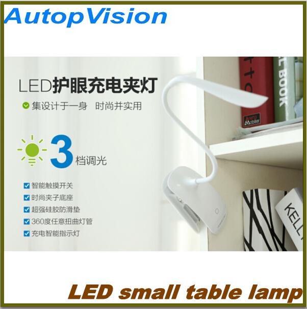 1 Piece Modern LED Clip Desk Lamp,Clip Bed Lamp,Reading Lamp,Novel USB Night Light,Free Shipping(China (Mainland))