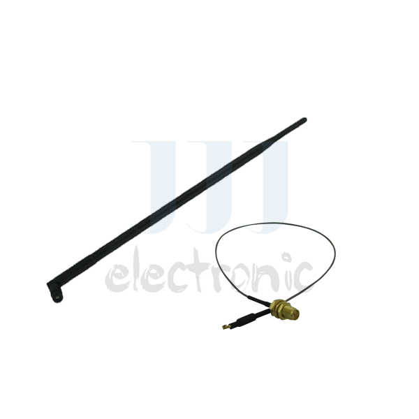 1 9dBi Dual band RP-SMA WiFi Antenna + 1 U.fl cable for Mod Kit Linksys WRT330N WRT320N(China (Mainland))