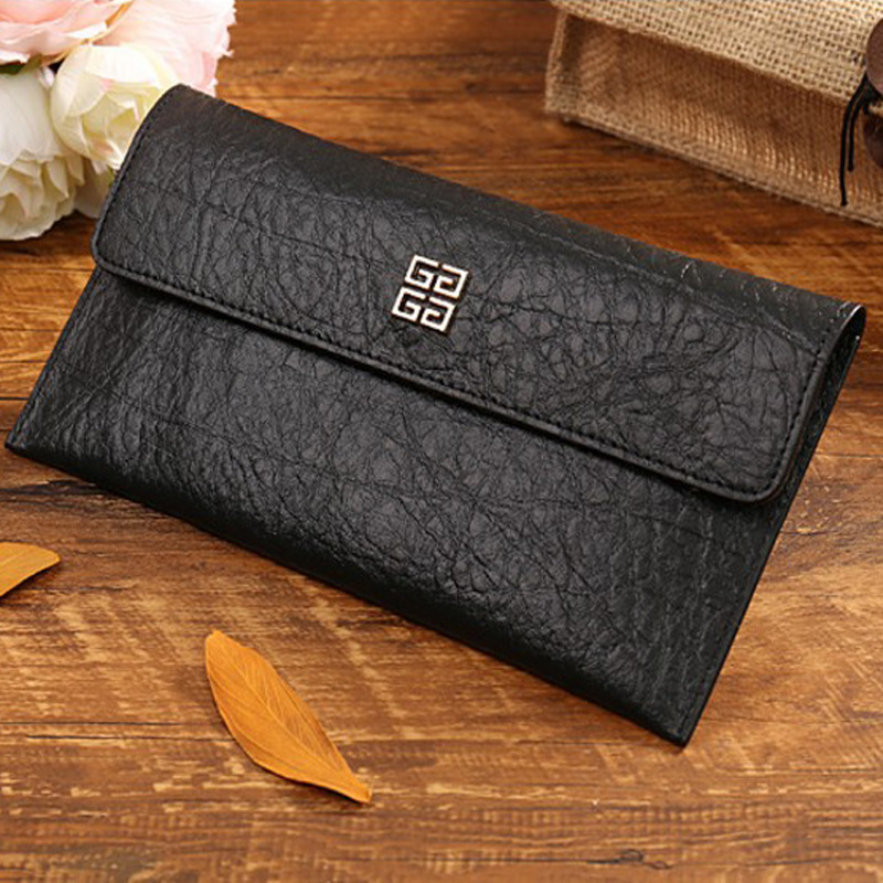 Famous designer brand elephant grain genuine leather fashion wallet cow leather women's wallets movable card holder coin purse(China (Mainland))