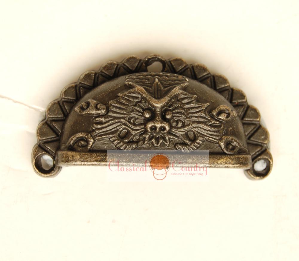 "10pcs Alloy Bin Cabinet Pull Cup Drawer Handles Vintage Hardware Imitation Bronze 1.89""(China (Mainland))"