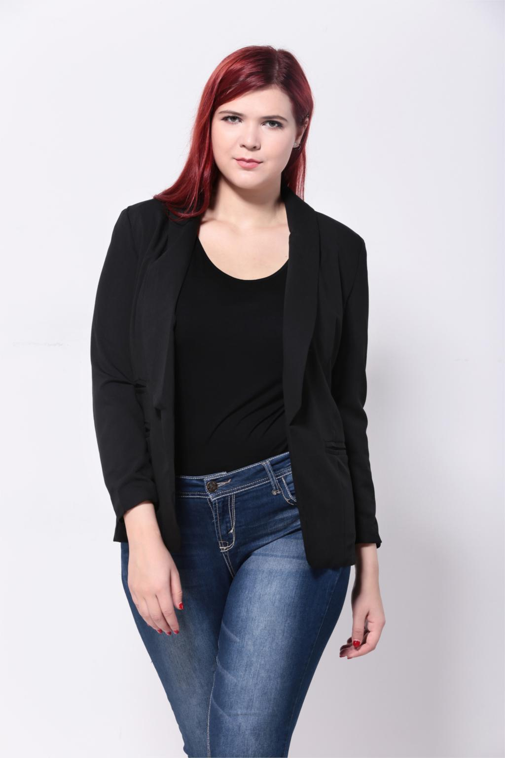 Bundle up in Dillard's women's plus size jacket and vest collections available in the latest styles. From women's plus size blazers, lightweight jackets and work-ready jackets we have all your women's plus size jacket and vest needs covered.