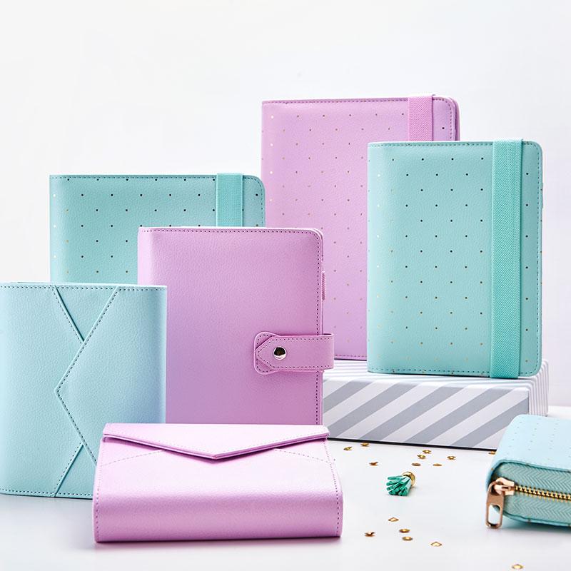 New Dokibook Notebook Mint A5 A6 Spiral Time Planner Cute Creative Zipper Case Book Diary Agenda Organizer(China (Mainland))
