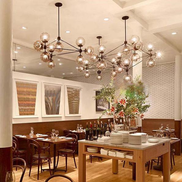 5 10 15 21 head dining room decoration led modo chandelier for Dining room globe lighting