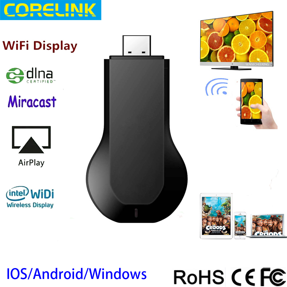 Full Hd 1080p Wifi dongle TV stick Miracast Dongle Ezmirror Dlna Airplay Real Time Display easy operation with RK2928(China (Mainland))