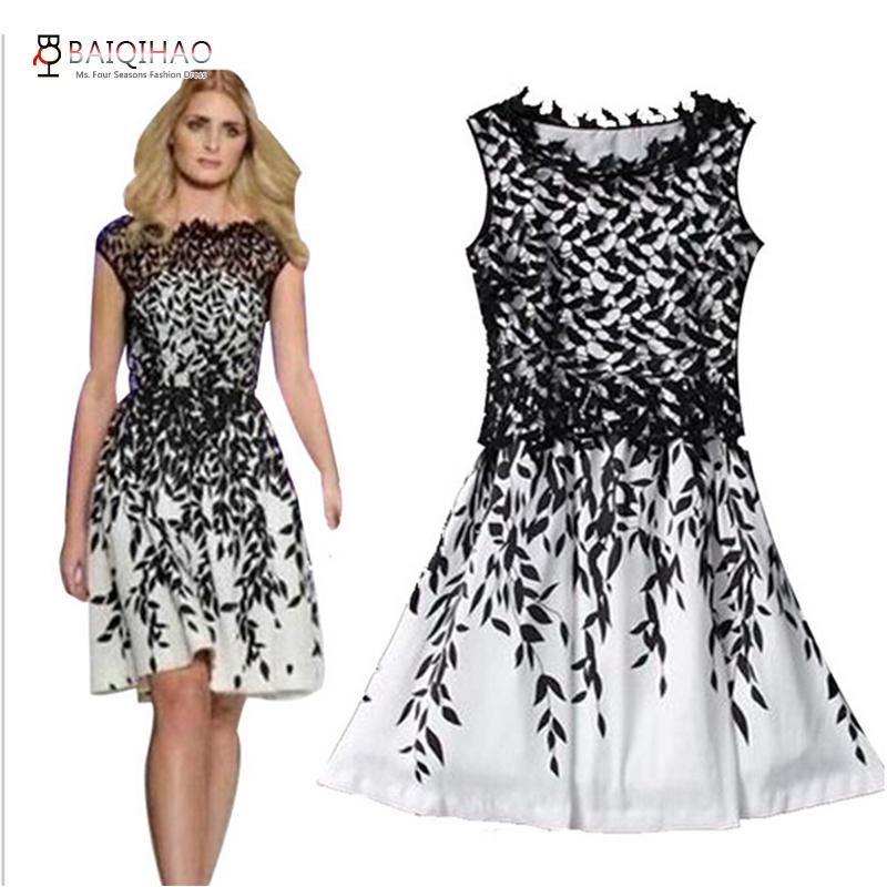 Принт вышивка на платье