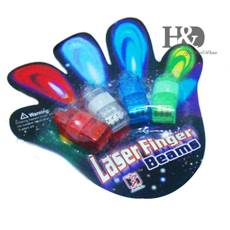 12PCS LED Finger Light Glowing Dazzle Colour Laser Emitting Finger Ring Beams Ring Torch Wedding Party Christmas Celebration (1)