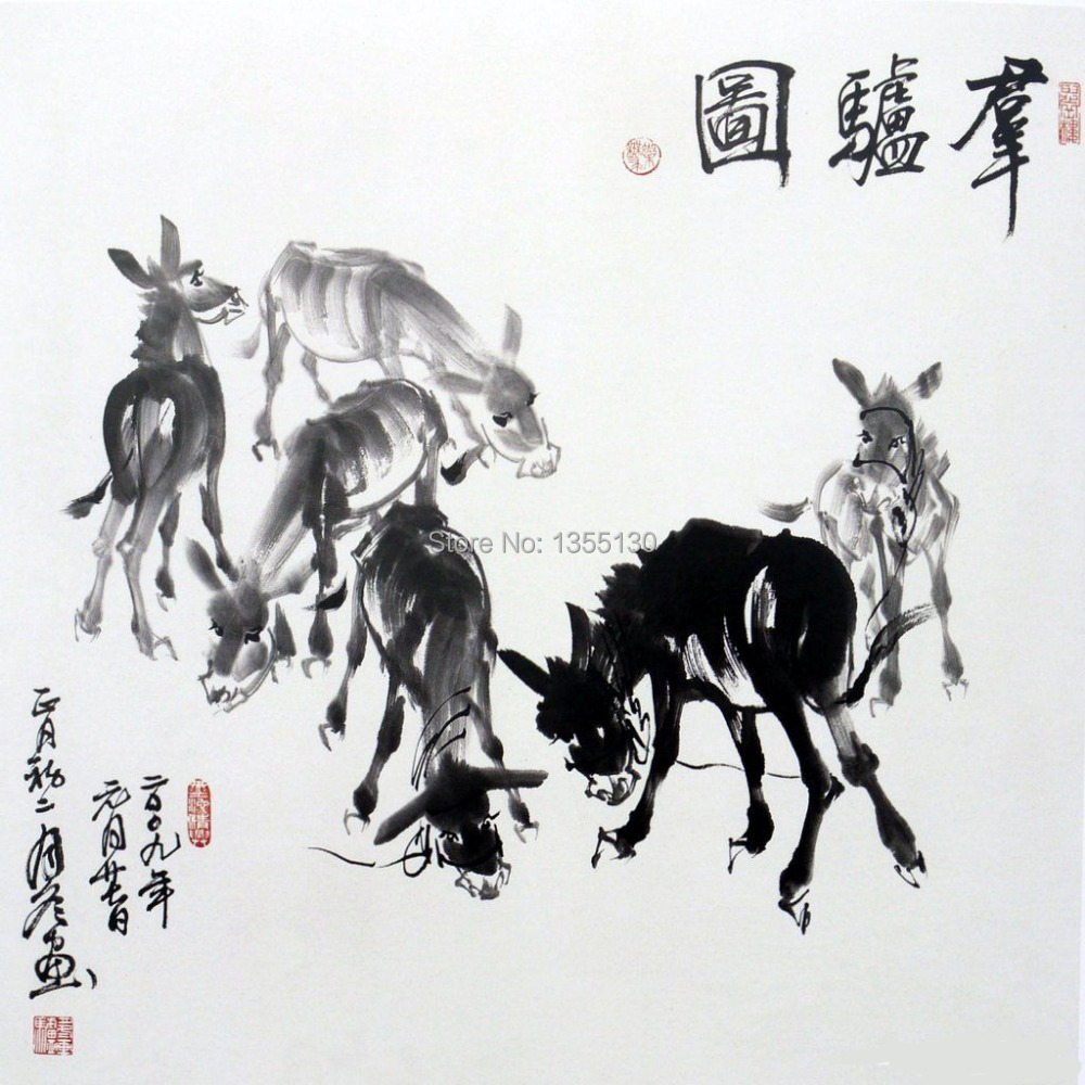 Chinese painting book how to paint donkey by Gao Yuedong oriental Asian art<br><br>Aliexpress