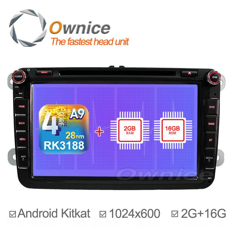 1024*600 Quad Core Android 4.4 Car DVD Volkswagen VW Tiguan Polo Golf Passat Jetta Car GPS Navigation Radio 2G RAM + 16GB ROM(China (Mainland))