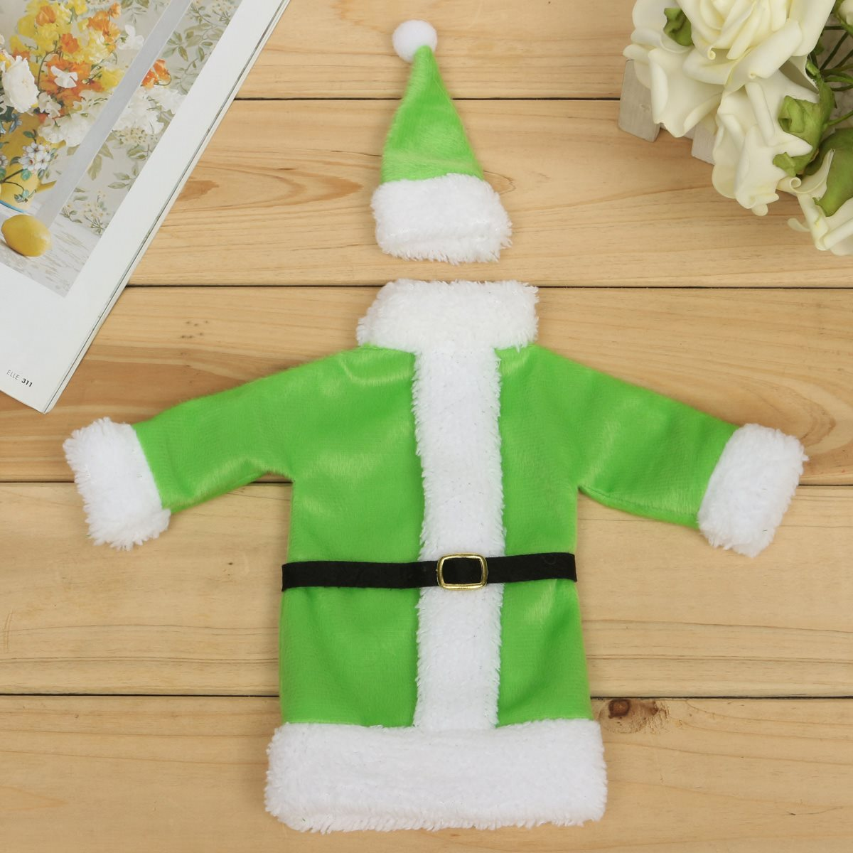 Cloth Christmas Wine Bottle Bag Christmas Dinner Party Bottle Storage Cover Gift Bag Souvenir Christmas Party Decorative Gadgets(China (Mainland))