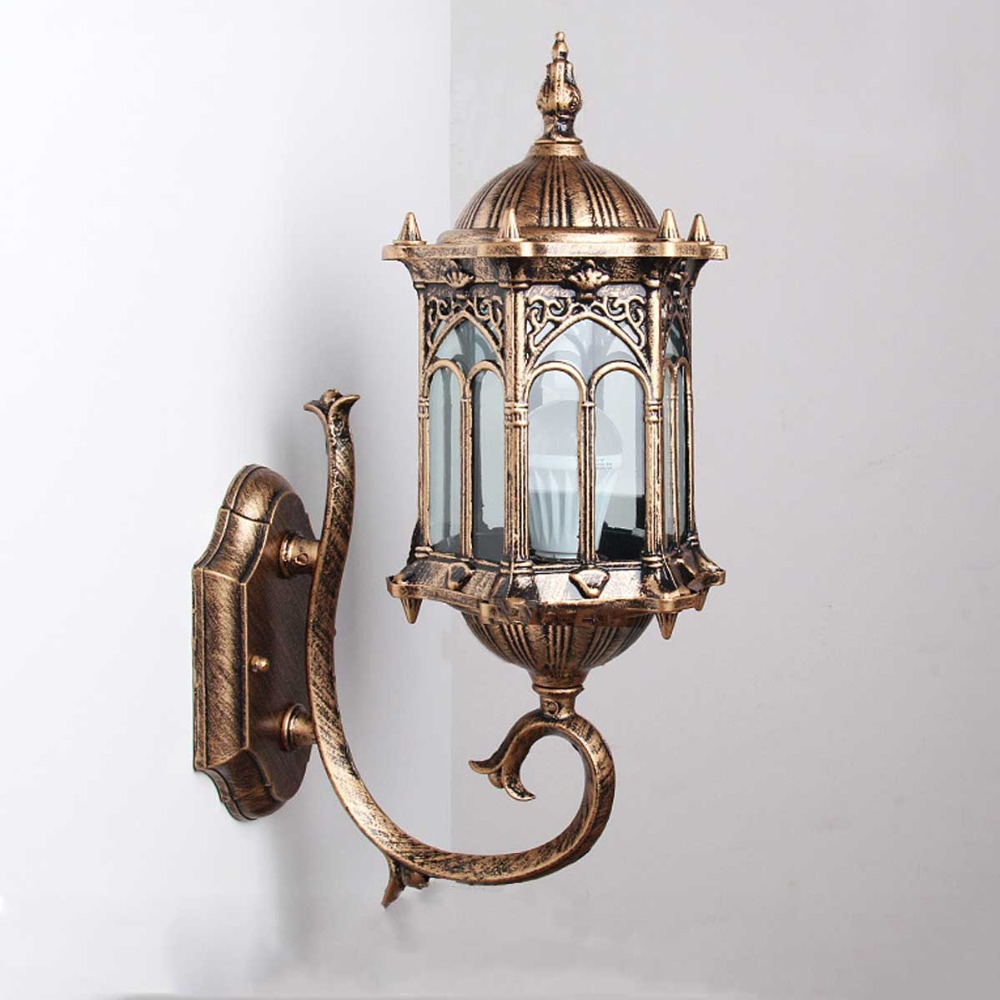 1pc Wall Sconce Homestia Brand Top Grade Retro Exterior Lamp Antique Bronze Exterior Wall ...