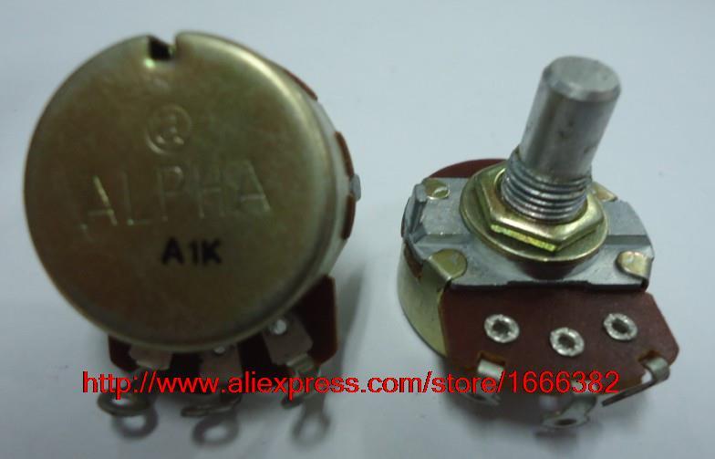 2pcs//Electric guitar game potentiometer single linked A1K 15R RV24AF-10(China (Mainland))