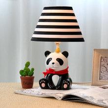 Panda Table Lamp Modern Simple Style Bedroom Study Table Lamp Cute Cartoon Panda Lamp for Children(China (Mainland))