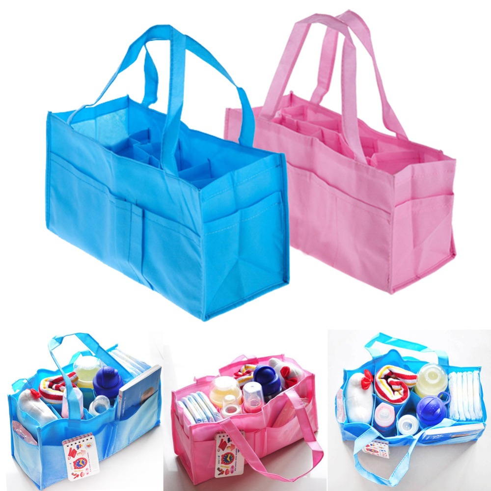 2 colors portable baby diaper nappy changing bag inserts handbag organizer pouch storage inner. Black Bedroom Furniture Sets. Home Design Ideas