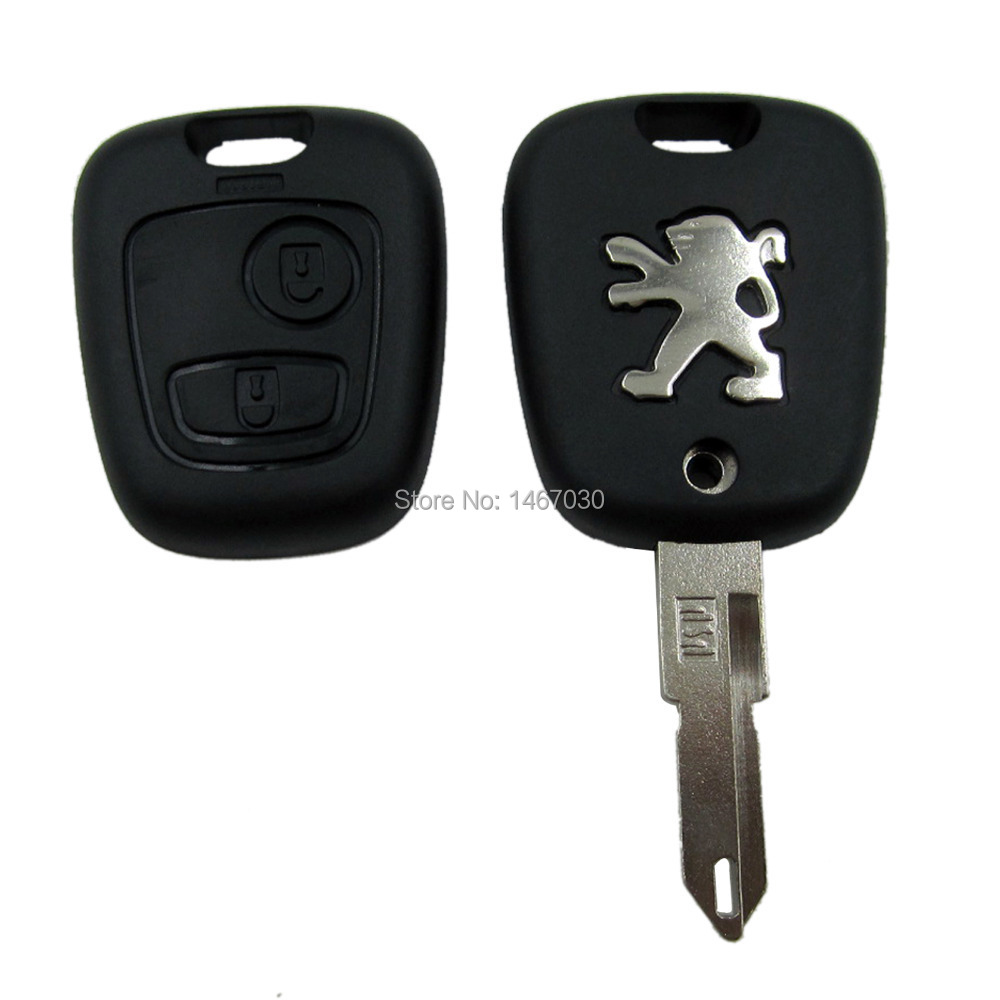 Remote Key Fob Case 2 Button Uucut Blade For Peugeot 106 206 306 406 Free Shipping