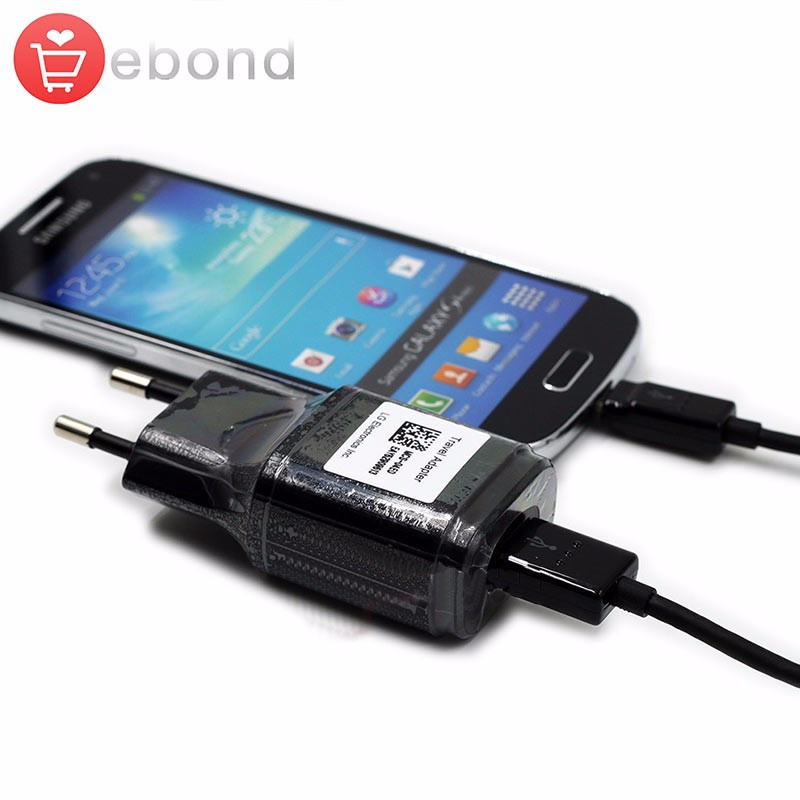 100% Original 1.8A Fast Phone USB Charging Adapter with Micro Cable EU Wall Travel For LG Charger G2 G3 G3S G4 and more