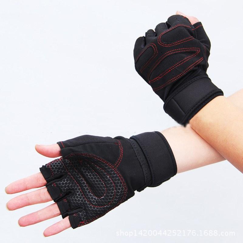 Weight Lifting Gym Gloves Workout Wrist Wrap Sports: Men Weightlifting Gym Gloves Training Fitness Workout