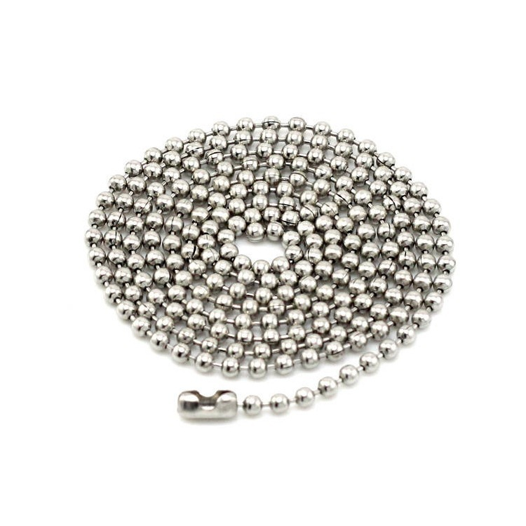 60cm Fashion Stainless Steel Dog Tag Chains Stainless Steel Bead Chain Ball Chains Necklaces Locket Chains(China (Mainland))
