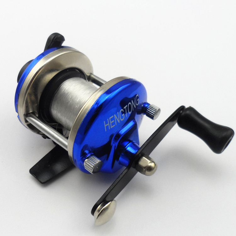 Small bait casting reels water ice fishing wheel rotation round metal pedestal carp fishing fishing line round plate wheel 61002(China (Mainland))