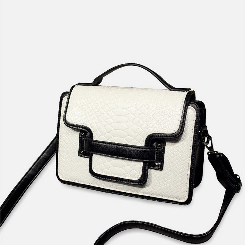 2016 New arrival CROCO Trand PU leather women bag double belt design chain women messenger bag fashion shoulder bags WLHB1285(China (Mainland))