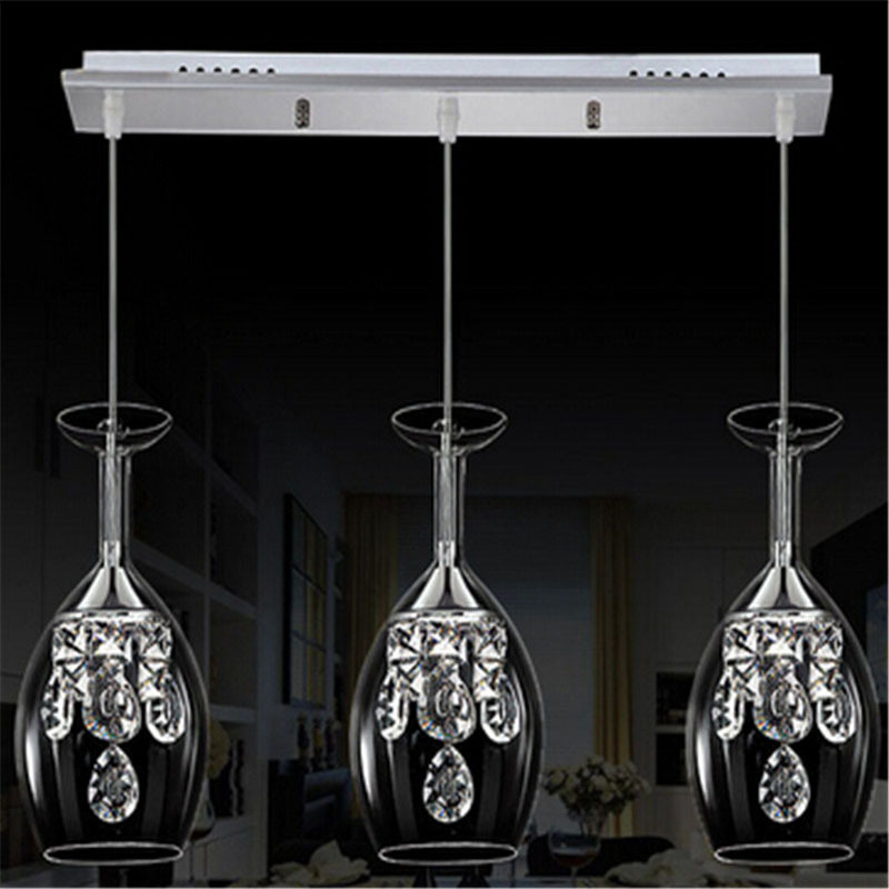 Modern luxury red wine glass Pendant Chandelier 15W 3