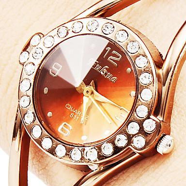 Топ Роскошный Горный Хрусталь Браслет Часы Розовое Золото Часы Женщины Часы Мода Дамы Кварцевые Часы Час relogio feМиниno reloj mujer