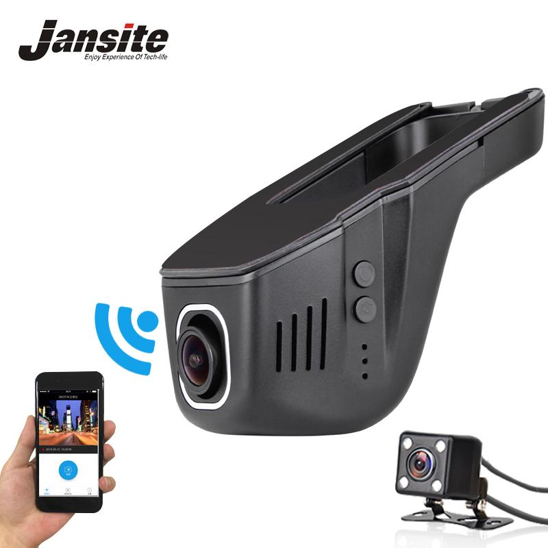 Jansite Car Dvr Mini Wifi Car Camera Full HD 1080P Dash Cam Registrator Video Recorder Camcorder Dual Lens Dvr App Control 2017(China (Mainland))
