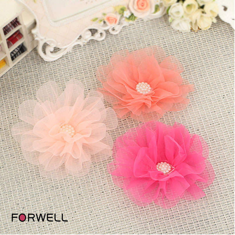 5Pcs/lot Children's hair accessories baby girls flower shape hair clips girls pearl hairpins headdresses flower hair ornaments(China (Mainland))
